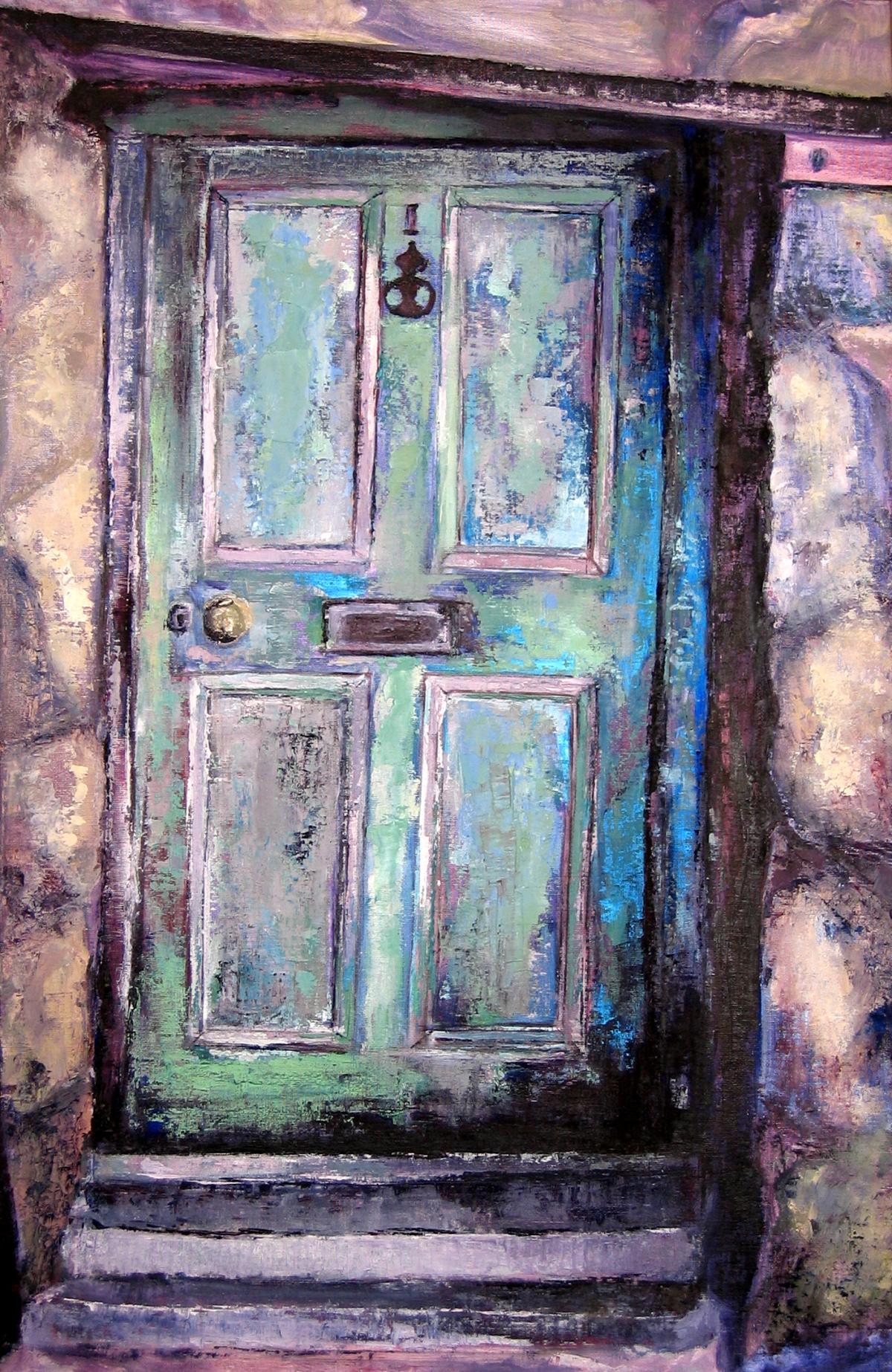st-ives-door-oil-on-board-50cm-x-76cm