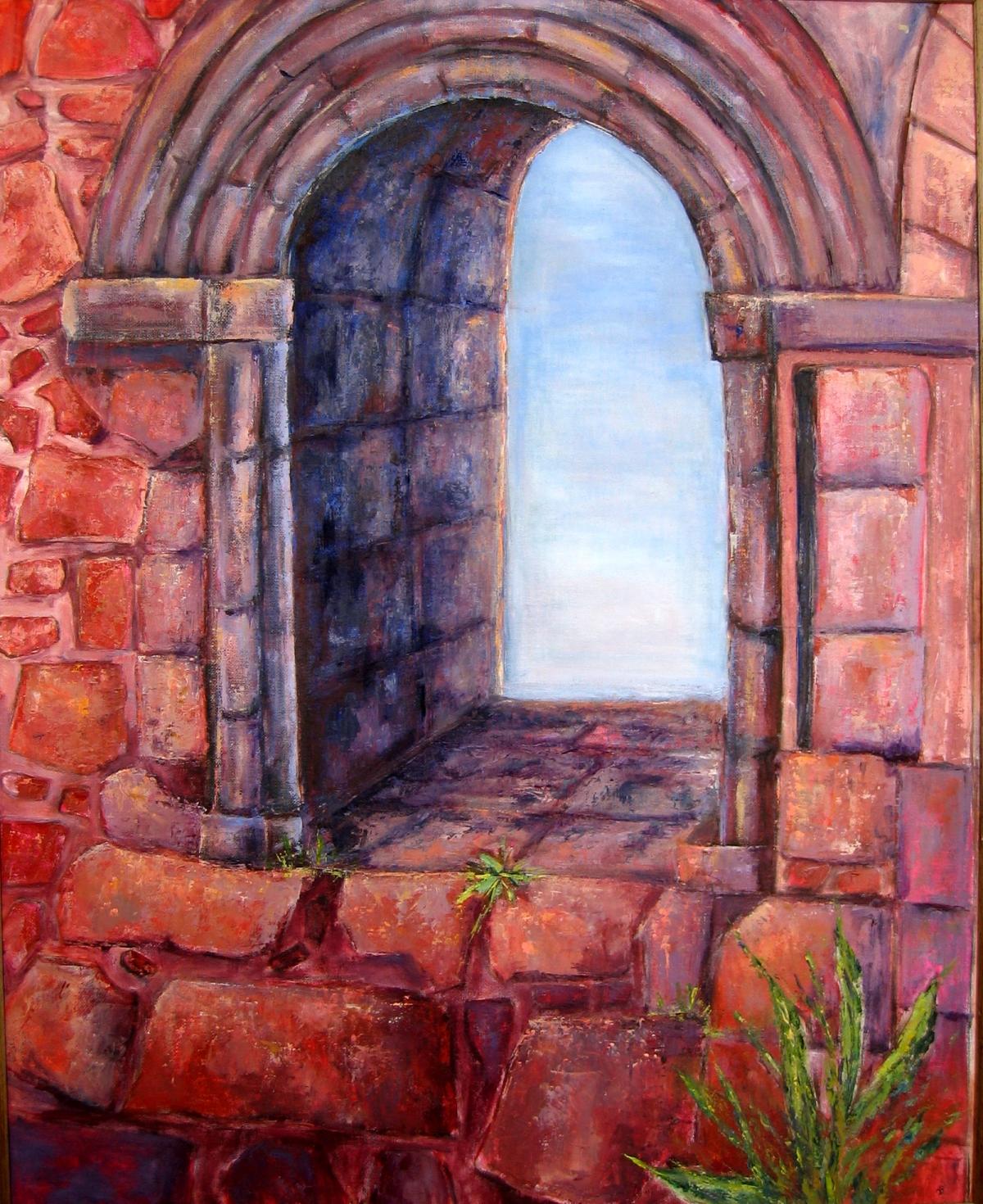 torre-abbey-window-oil-on-board-60cm-x-76cm